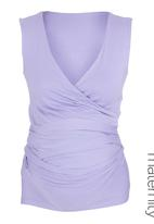 Kicker Clothing - Sleeveless wrap top Pale Purple