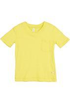 Adeva - V-neck T-shirt Yellow