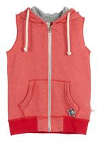 Adeva - Sleeveless sweater Red