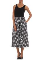 STYLE REPUBLIC - Printed 50s skirt Black/White