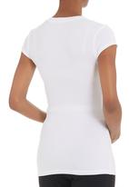 Kicker Clothing - Short-sleeved v-neck top White