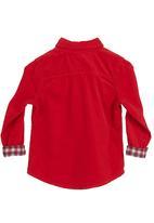 POLO - Corduroy shirt Red