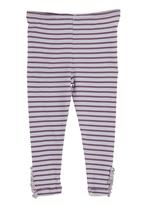 Just chillin - Striped leggings Mid Purple