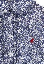 POLO - Floral shirt Navy