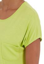 edge - Sleepshirt with pocket Green