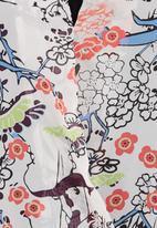 Soto - Floral wrap shirt