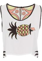 Fabric - Pineapple-print crop top