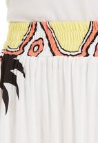 Fabric - Pineapple-print maxi skirt White