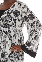 edit - Floral tunic Black/White