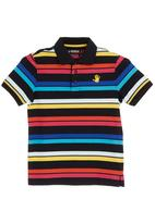 466/64 - 46664 Branded collared T-shirt Multi-colour