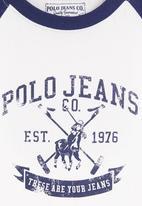 POLO - Long-sleeved T-shirt Blue/White
