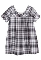 YhoYho - Checked dress Black/White