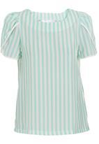 adam&eve; - Petal-sleeve blouse Green