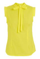 adam&eve; - Pussy-bow blouse Yellow