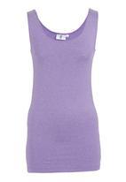 edge - Longer-length Vest Purple