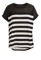 FATE - Jocelyn striped top Black/White