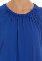 Five Legends - Sleeveless chiffon top Blue (mid blue)