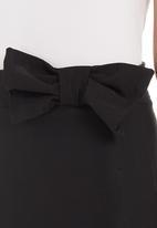 adam&eve; - Bow detail pencil skirt Black