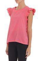 adam&eve; - Frilled-sleeve top Pink