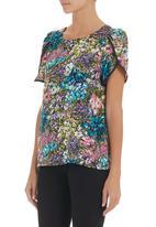 adam&eve; - Petal-sleeve blouse Chartreuse