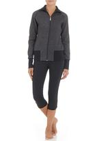 New Balance  - Womens essential zip-through fleece top Dark grey