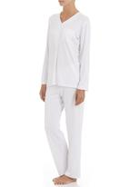 White Mischief - Sleep set with buttons White