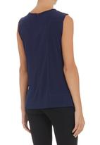 G Couture - Sleeveless mesh top mid Blue