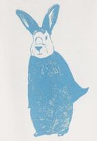 Petit Pois - Rabbit-print onesie White