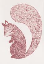 Petit Pois - Squirrel-print onesie Neutral