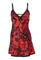 edge - Floral-printed chemise Red