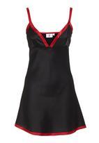 edge - Satin chemise Black