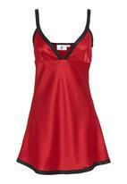 edge - Satin chemise Red