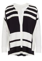 Metalicus - Lucca long-sleeve loose top Black/White