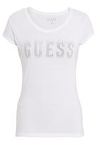 GUESS - Gem burst logo T-shirt White