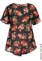 Isabel de Villiers - Printed kaftan tunic Black