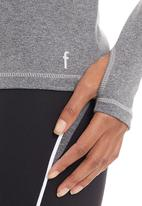F.I.T Clothing - Twist long-sleeve top Grey