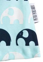 Petit Pois - Top with elephants Blue