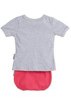 Petit Pois - Printed T-shirt with bloomer set