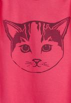 Petit Pois - Onesie with cat face print