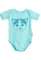 Petit Pois - Onesie with cat face print