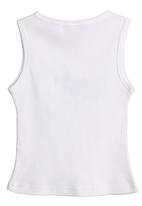 Petit Pois - Vest with cat print White