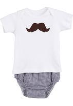 Pickalilly - Moustache diaper set