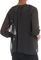 Me-a-mama - Polka dot blouse Black/White