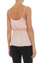 edit - Strappy cami with frill Neutral