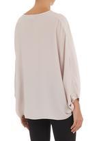 edit - Silk cape shirt Milk