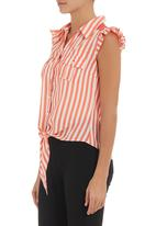 edit - Shirt with back detail Coral