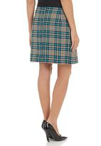 edit - Checked skirt Multi-colour