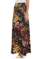 G Couture - Floral maxi skirt Multi-colour