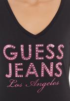GUESS - V-neck Guess Jeans T-shirt Black