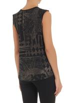 GUESS - Baroque skull tank Black